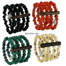 Armband aus Acai Samen, vierreihig, in vielen Farben erhältlich, original Sambaia
