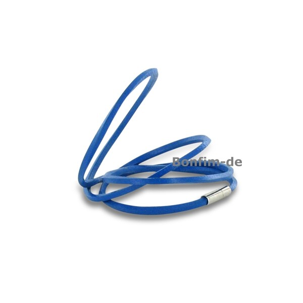 lederarmband wickelarmband 3fach oder halsband royal blau schmuck armb nder surfer style. Black Bedroom Furniture Sets. Home Design Ideas