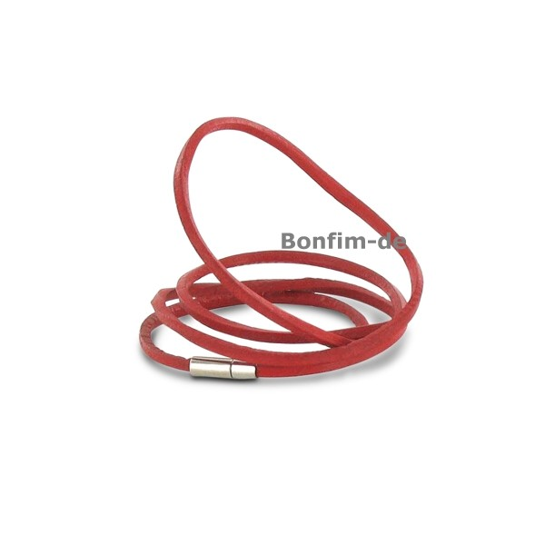lederarmband wickelarmband 3fach oder halsband rot schmuck armb nder surfer style. Black Bedroom Furniture Sets. Home Design Ideas